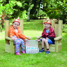 Outdoor Wooden Thrones 2pk  medium