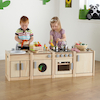 Toddler Height Wooden Kitchen Unit Multibuy  small
