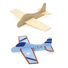 Make Your Own Wooden Aeroplane 12pk  medium