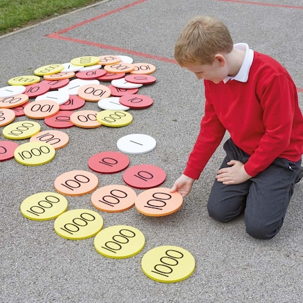 Outdoor Place Value Foam Counters 80pcs  large