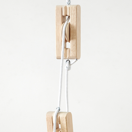 Outdoor Wooden Mini Pulley System  large