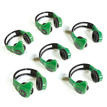Hands-Free Walkie Talkie Headsets 6pk  medium