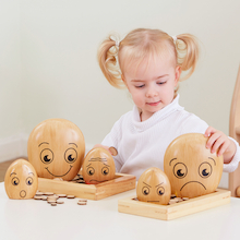 Emotions Wooden Pebble Family  medium