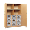 Cupboard with 24 Shallow Trays  small