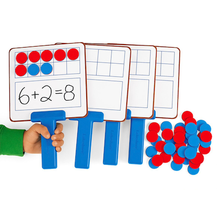 Ten Frame Magnetic Answer Boards  large