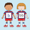 Football Phoneme Friends Wall Frieze  small