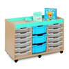 Bubblegum 15 Mixed Tray Storage Unit  small