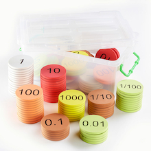 Foam Place Value Counters Teacher Version 120pcs  medium