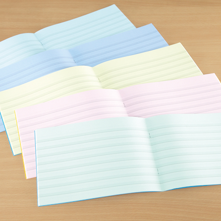 Tinted Handwriting Visual Stress Exercise Books  large