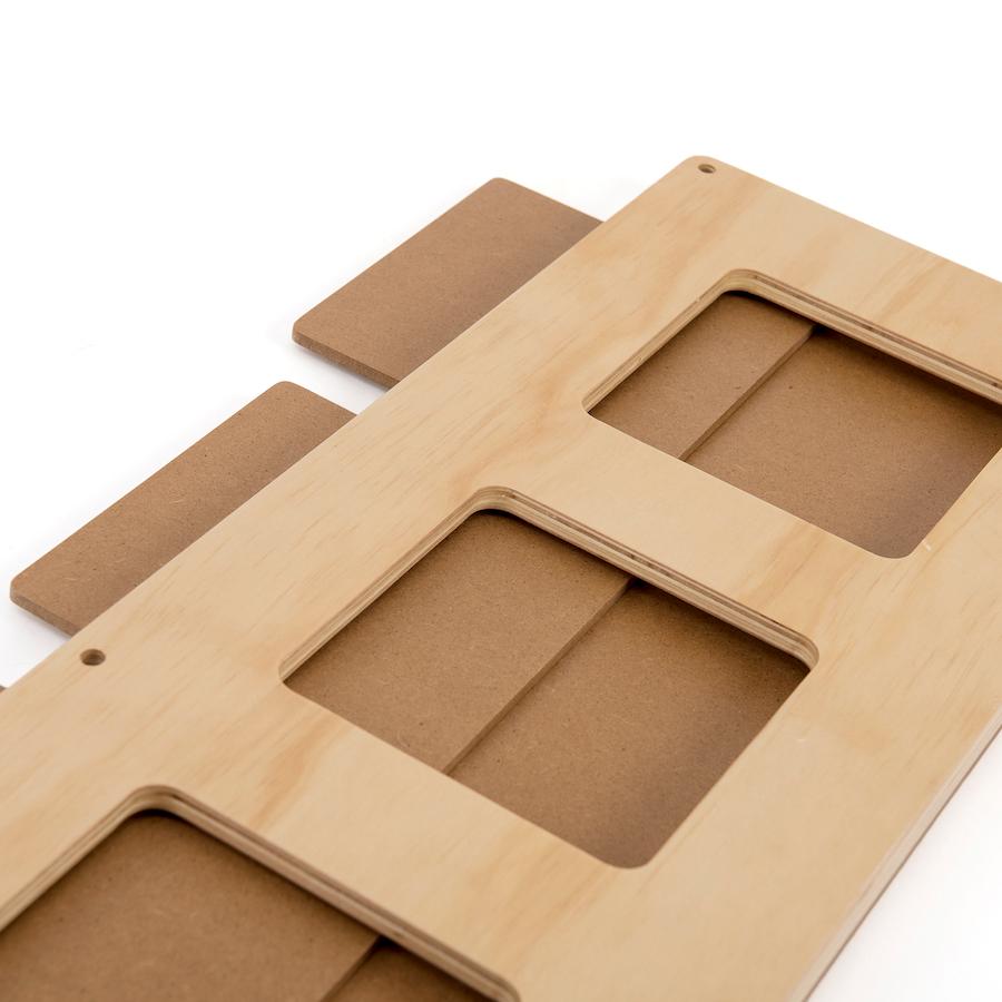 wooden frames for texture tiles