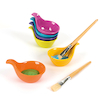 Colourful Plastic Nesting Spoon Set 1  small