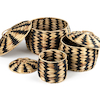Woven Zebra Baskets 3pk  small