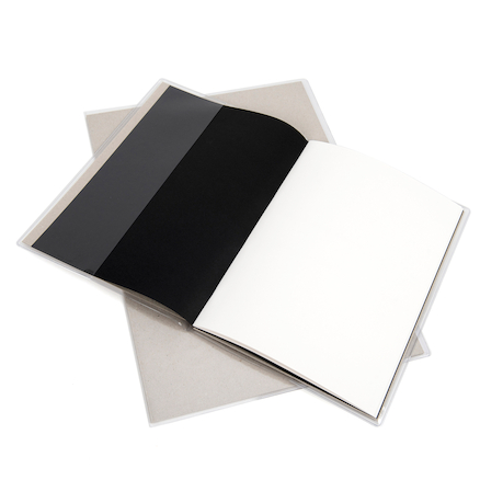 Clear Polythene Sketchbook Covers A4 10pk  large