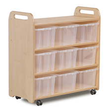 Playscapes Shelf with Back with 9 Clear Tubs  medium