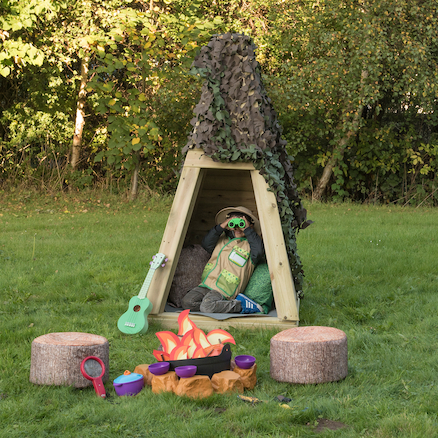 Outdoor Wooden Teepee  large
