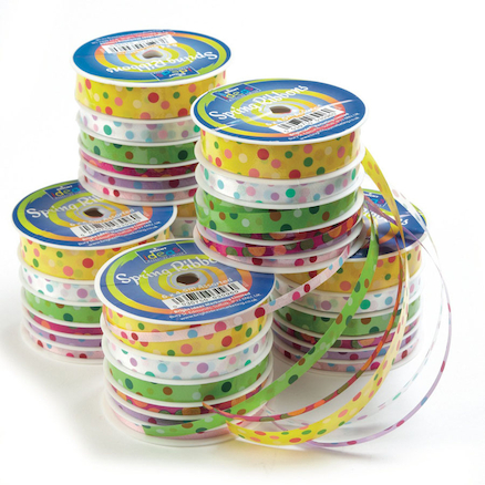 Spring Ribbons Assorted 6pk  large