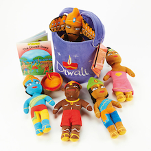 Washable Diwali Festival Story Basket 8pcs  medium