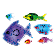 Squidgy Sparkle Fish 6pk  medium