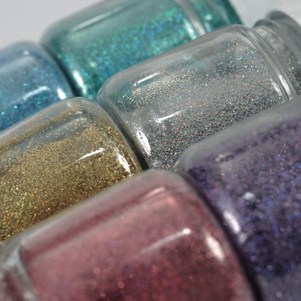 Clear Peel Off Paint and Super Fine Glitter Set  large
