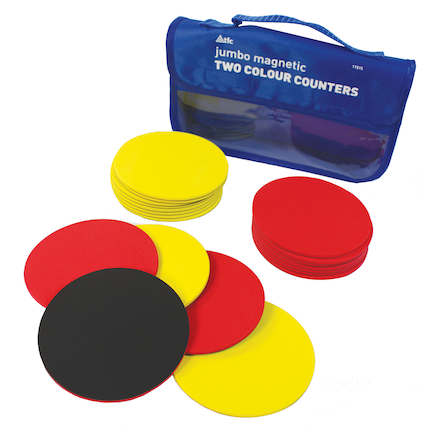 Magnetic Two Colour Counters 20pcs Teacher  large