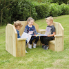 Outdoor Wooden Chairs 3pk  small