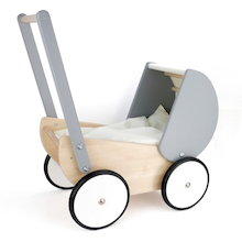 Wooden Dolls Pram  medium