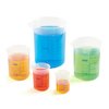 Plastic Nestling Graduated Beakers Set 5pk  small