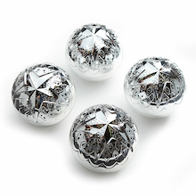 Super Shiny Silver Sensory Balls 4pk  medium