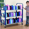 Steel Frame Double Lunchbox Trolley  small