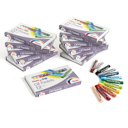 Pentel Arts Oil Pastels 144pk  large