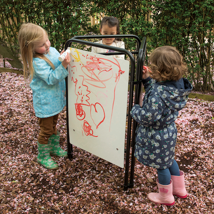 Fold Away Toddler Easel Assorted Drawing Surfaces  large