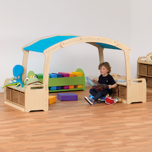Playscapes Low Level Den Canopy with Integrated Storage  medium