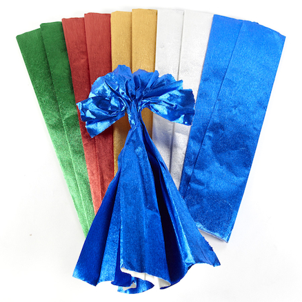 Assorted Metallic Crepe Paper 2.5m 10pk  large