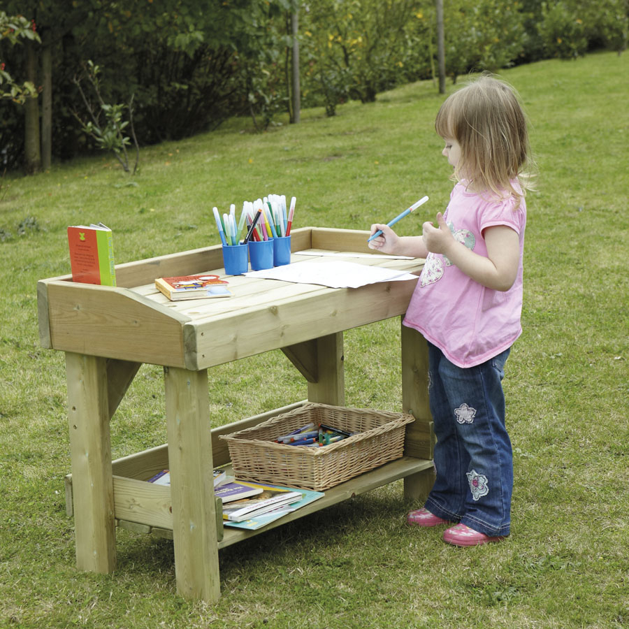 Awesome ... Outdoor Wooden Work Bench Small