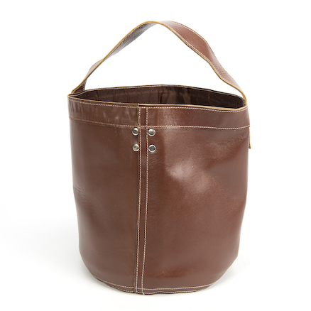 Hand Made Leather Bucket  large