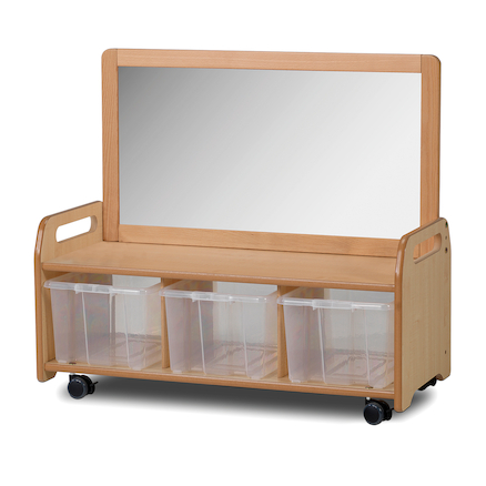 Millhouse Mobile Open Shelf with Mirror  large