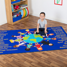 Multicultural Welcome Floor Mat L200 x W130cm  medium