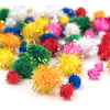 Glitter Craft Pom Poms 100pk  small