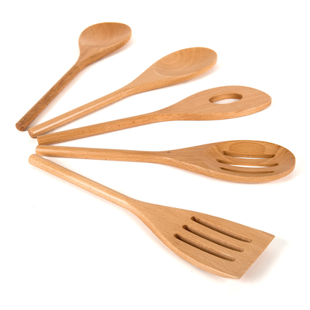 Messy Play wooden utensils set 5pcs  large