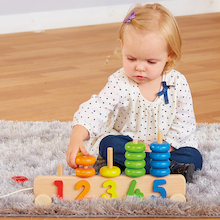 Wooden Counting Stacking Toy  medium