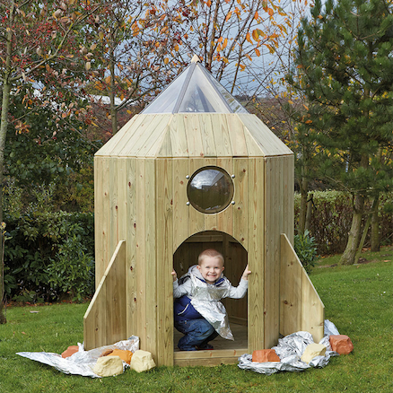 Outdoor Wooden Role Play Spaceship  large