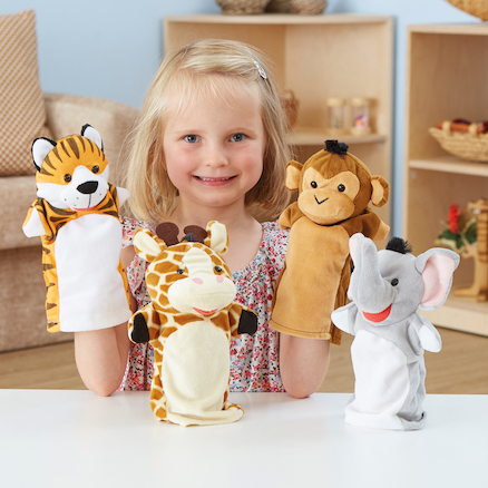 Role Play Zoo Animals Puppet Set 4pcs  large