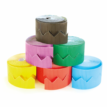 Zig Zag Bordette Display Roll Assorted 6pk  large