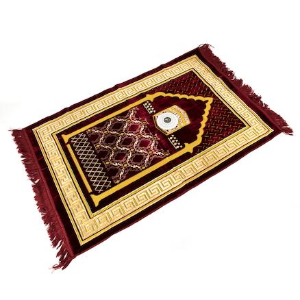 Islamic Prayer Carpet and Compass  large