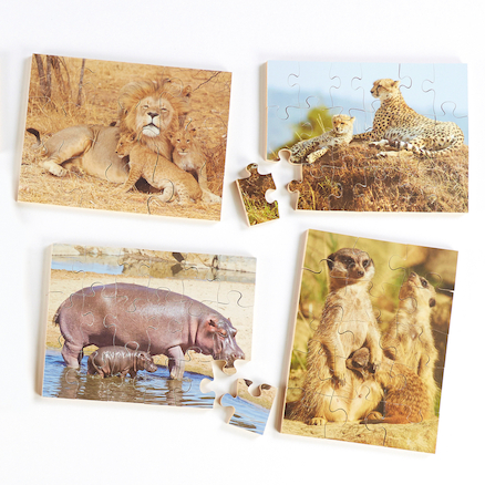 Animals and Their Young Jigsaw Puzzles 8pk  large