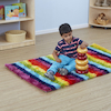 Rainbow Striped Soft Rug  small