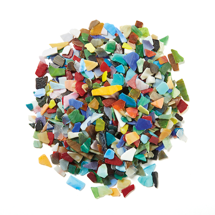 Tumbled Glass Mosaics Assorted 2Kg  large