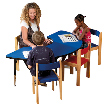 Height Adjustable Arc Classroom Table  large