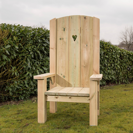 Freestanding Wooden Storytellers Chair  large