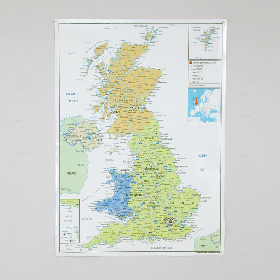 Buy UK Political Map A1 TTS
